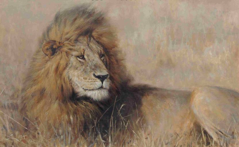 Painting without Frame Scenery-33 (34X22) Canvas Art - Animals ...