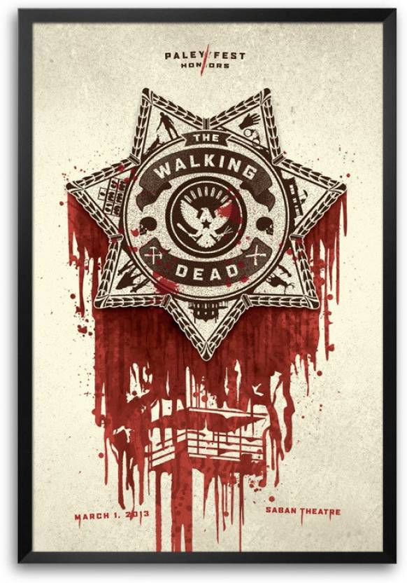 Rangeeleinkers The Walking Dead Badge Laminated Frame Poster Paper