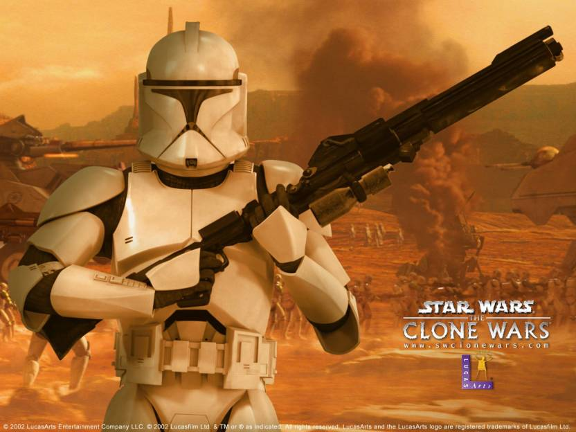 Movie Star Wars: The Clone Wars Clone Trooper HD Wall Poster