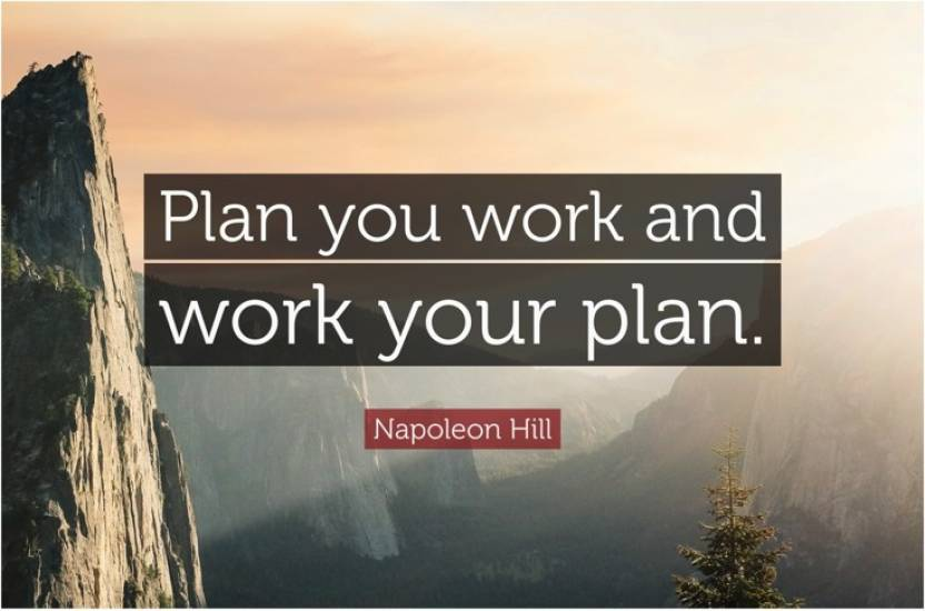 Plan Your Work Work Your Plan Motivational Quote Poster Paper