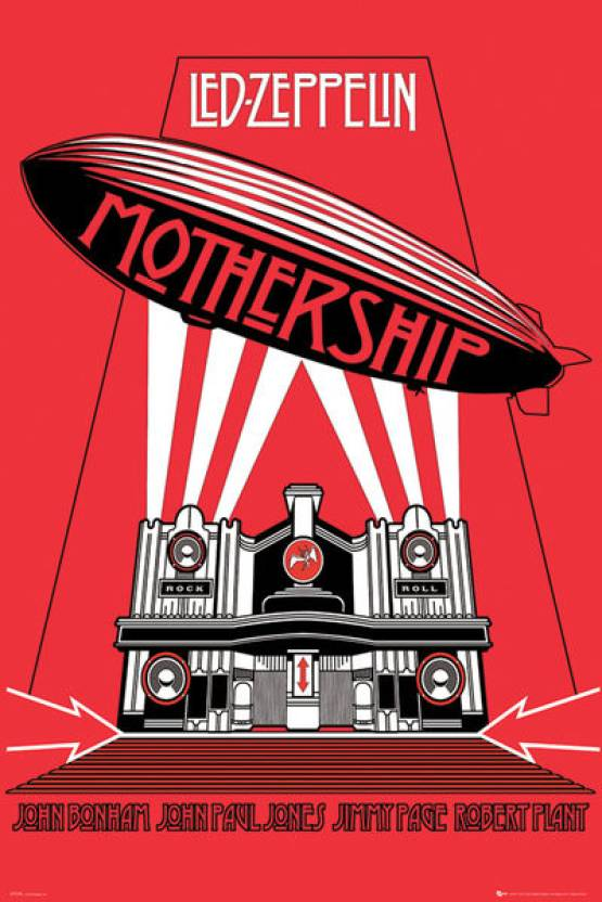 Led Zeppelin Mothership Paper Print Music Posters In India Buy