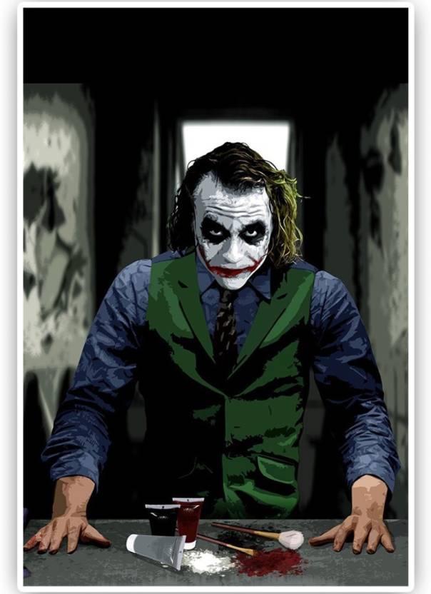 Athah Minimal Art Poster Poster Batman Joker Smiling Paper