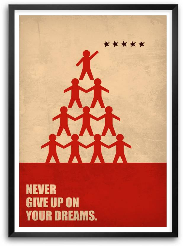 never give up on your dreams business quotes paper print quotes