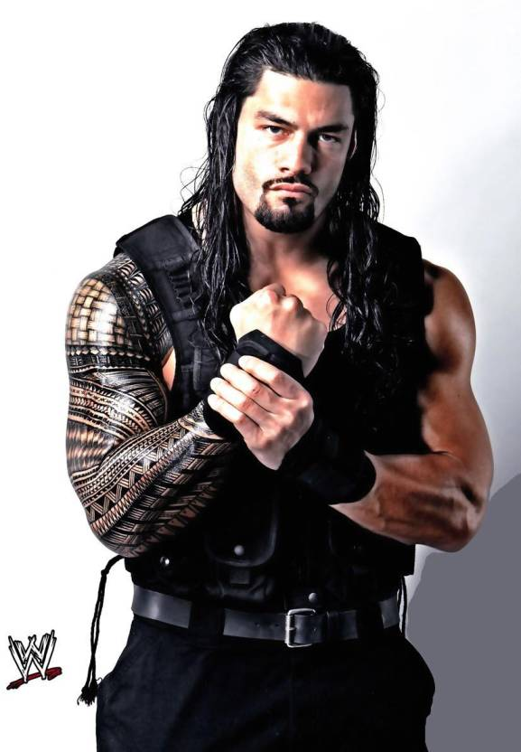 roman range wwe a3 non tearable high quality printed poster wall