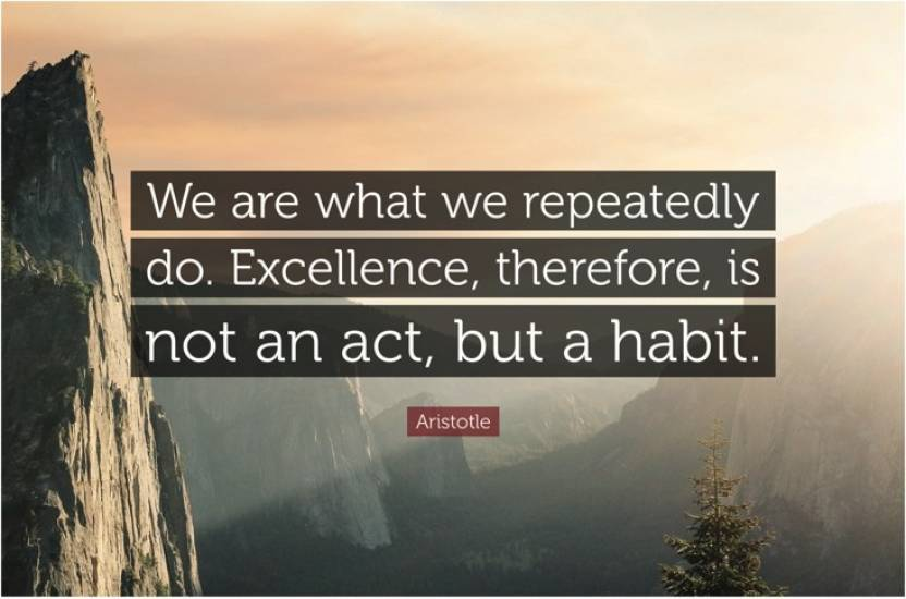 Excellence Motivational Quote Poster Paper Print - Quotes ...