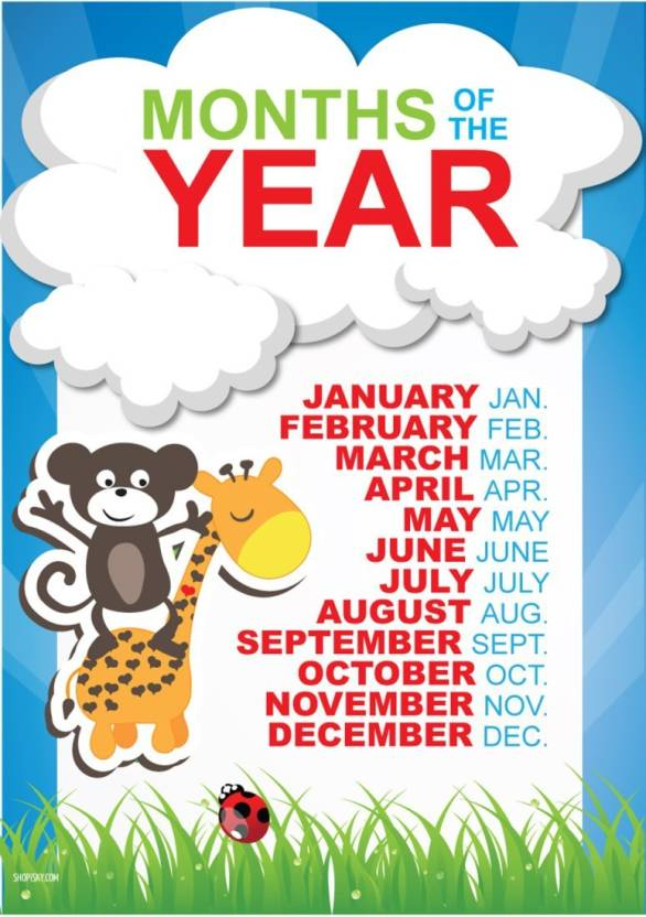 athah poster kids months of the year paper print music posters