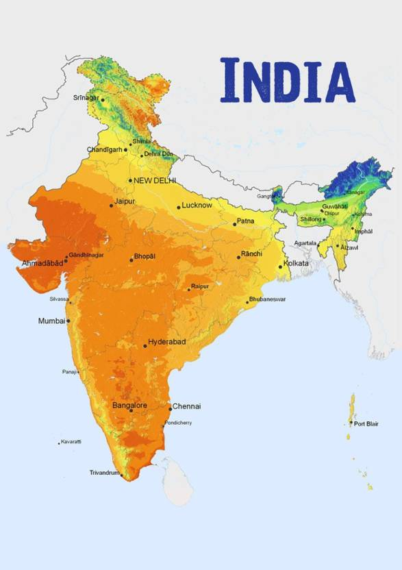 Posterhouzz Indian Political Map 001 Fine Art Print Maps Posters