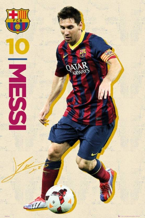 Posterhouzz Barcelona Messi Vintage 13 14 Poster Paper Print (18 inch X 12  inch 2d5e34b02