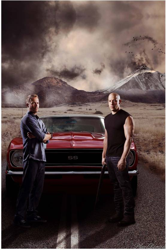 Fast And Furious Paul Walker Vinsel Combo Paper Print 18 Inch X 12 Inch Rolled