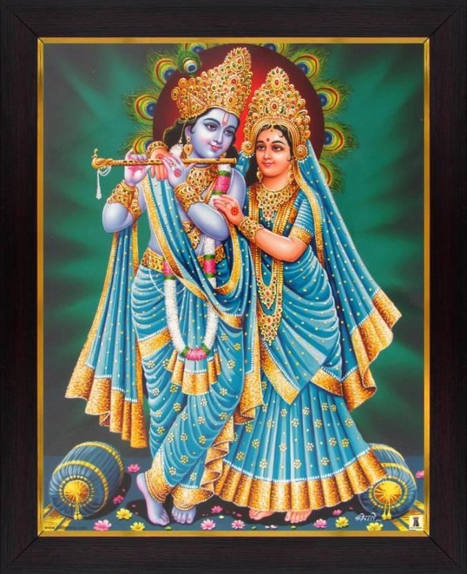 Lord Krishna / Radha Krishna Poster Paper Print - Art & Paintings