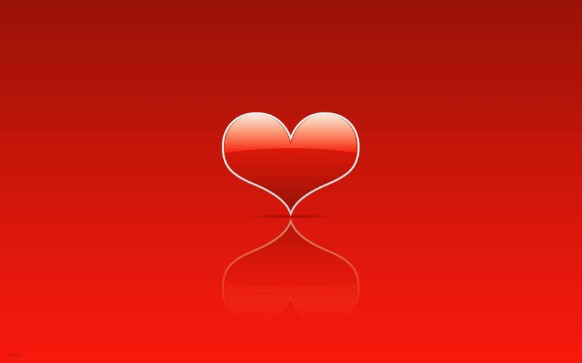 Red Heart A3 Hd Poster Art Psi1256 Photographic Paper