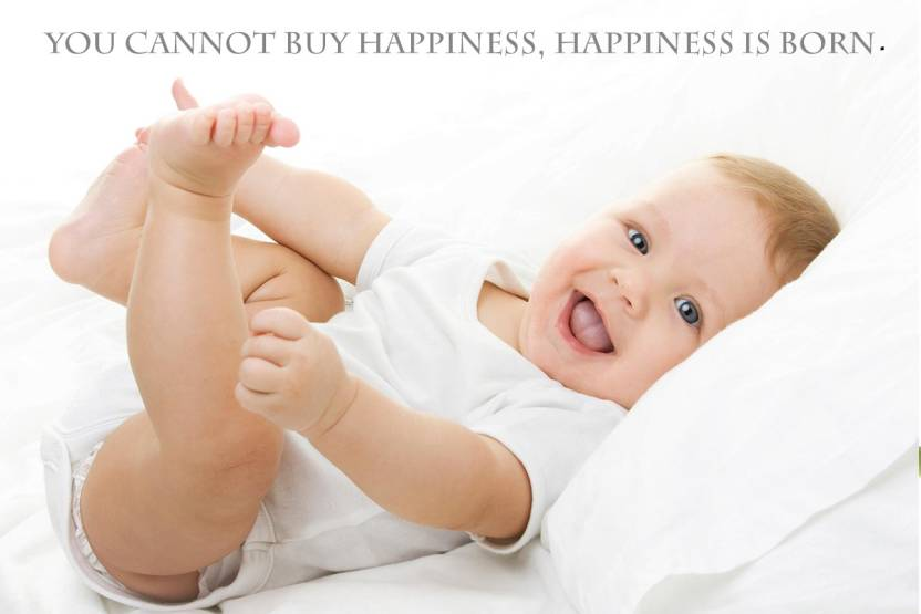 Cute Baby With Smile Quotes Poster Paper Print Children Posters In