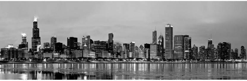 482fb38e776f Chicago Skyline Panorama, USA Premium Poster Canvas Art - ArtzFolio ...