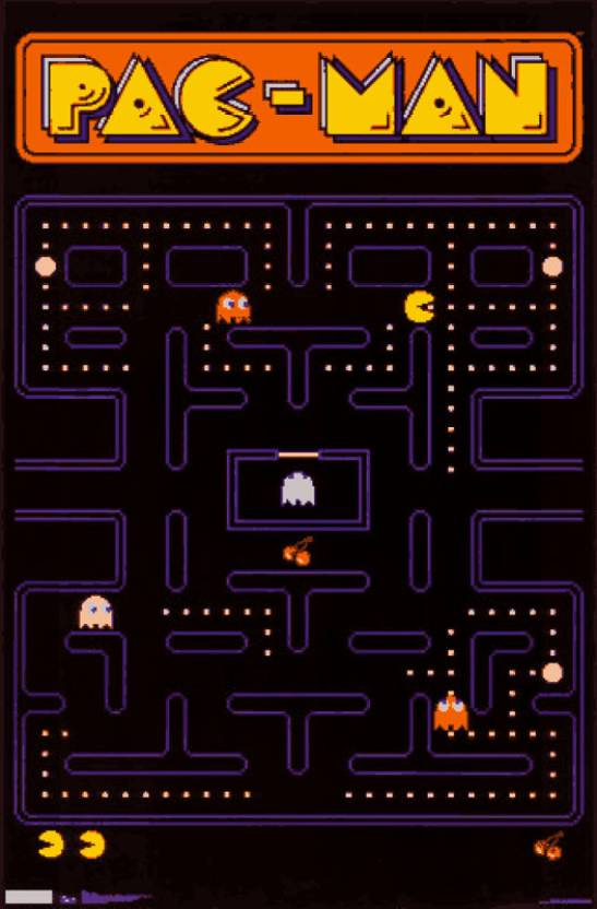 Pac Man Paper Print Gaming Posters In India Buy Art