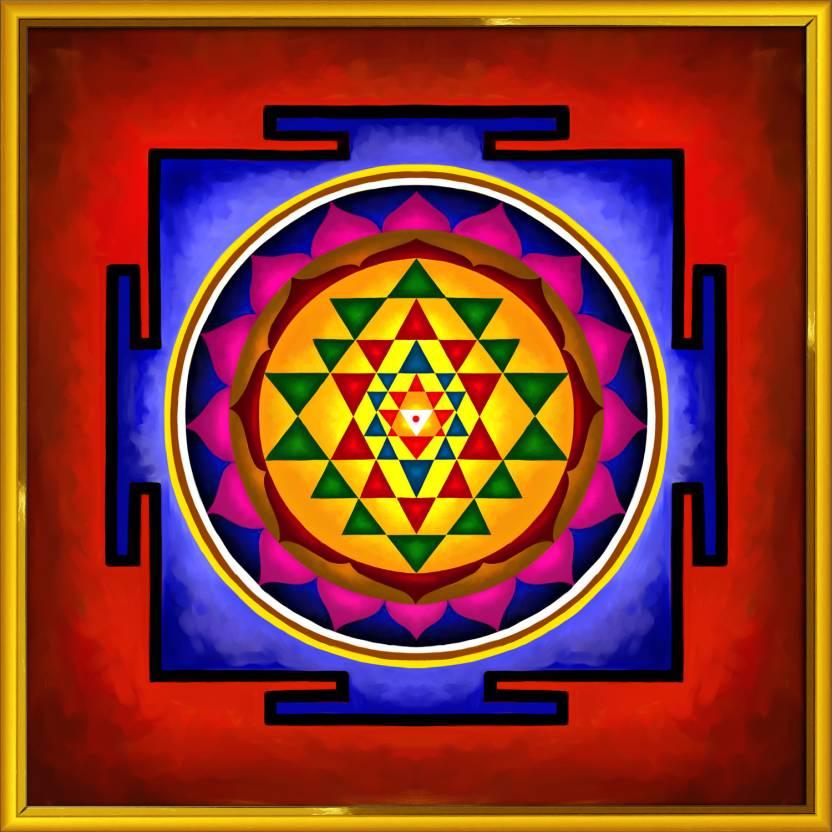 Art Factory Sri Yantra - Vedic Fine Art Print (16 inch X 16 inch)