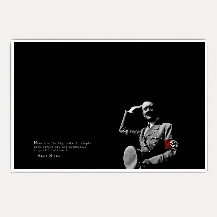 Adolf Hitler Life Quotes Jumbo Size Poster Paper Print Abstract