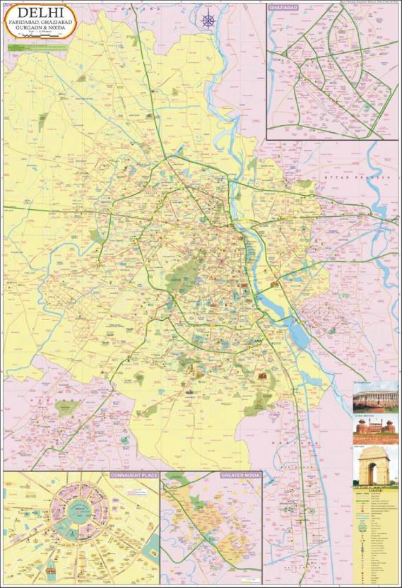 Delhi map paper print maps posters in india buy art film delhi map paper print gumiabroncs Image collections