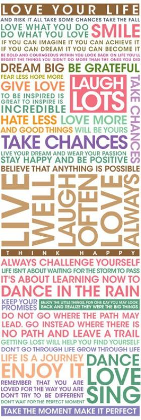 Athah Poster Live Your Life Paper Print - Quotes