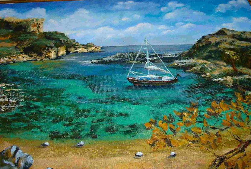 Painting without Frame Scenery-14 (34X22) Canvas Art - Nature ...