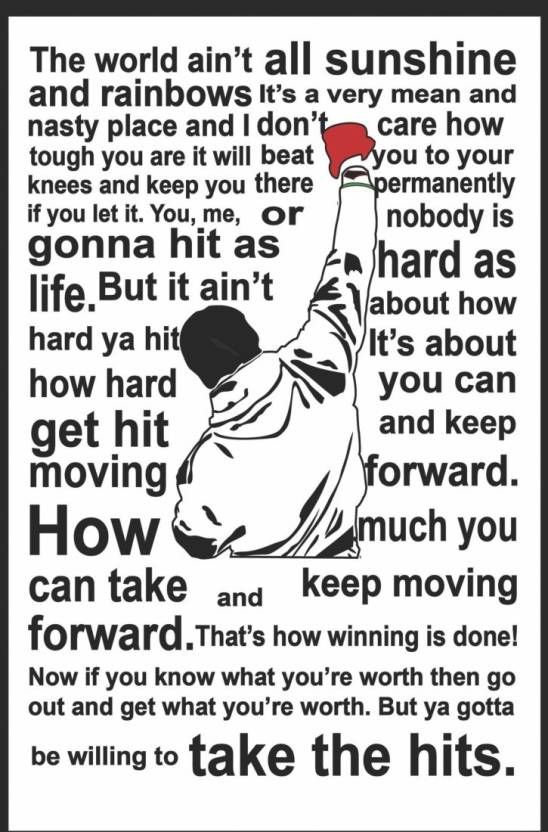 Athah Poster Rocky Balboa Quote Paper Print Rolled Paper