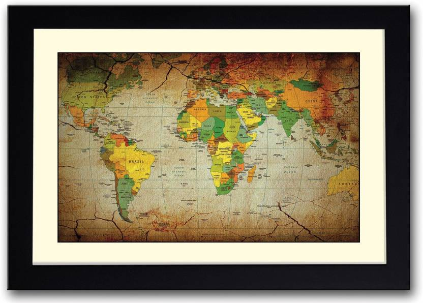 Artistic cracked world map fine art print maps posters in india artistic cracked world map fine art print gumiabroncs Image collections