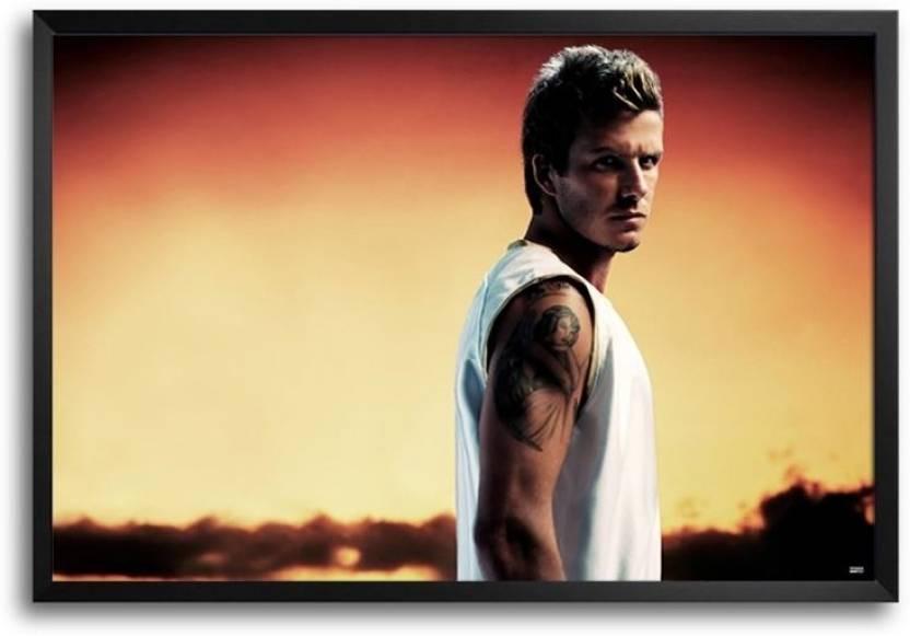 David Beckham Tattoo Fp00004597 Framed Photographic Paper