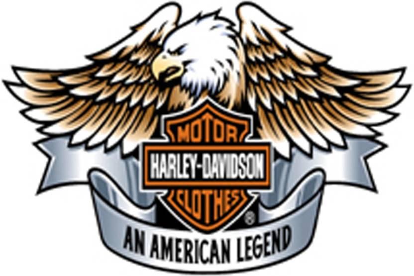Srg India Harley Davidson Logo Eagle Wings Poster (12X18