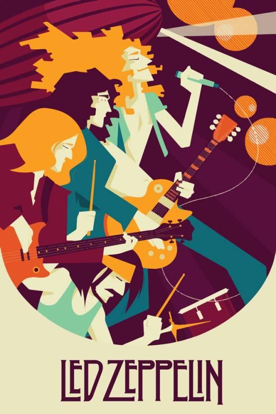 Posterskart Led Zeppelin Art Poster Paper Print Music Posters In