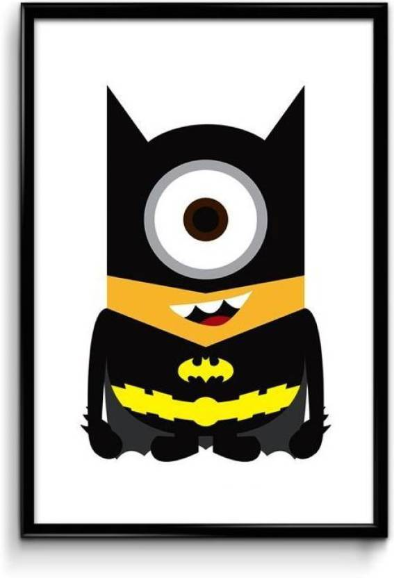 Minion Batman Impression Paper Print Personalities Pop Art