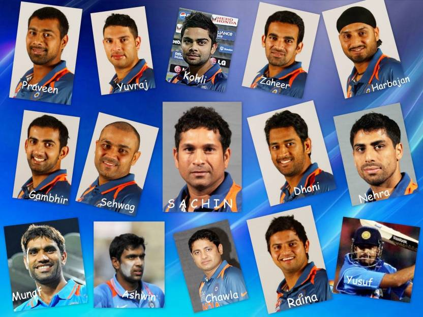 2011 Team India World Cup Cricket On Fine Art Paper Hd Quality
