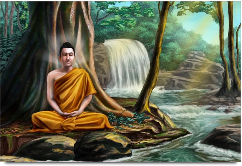 Amy Buddhist Monk Meditation Techniques In The Beauty Of Nature 3D Poster