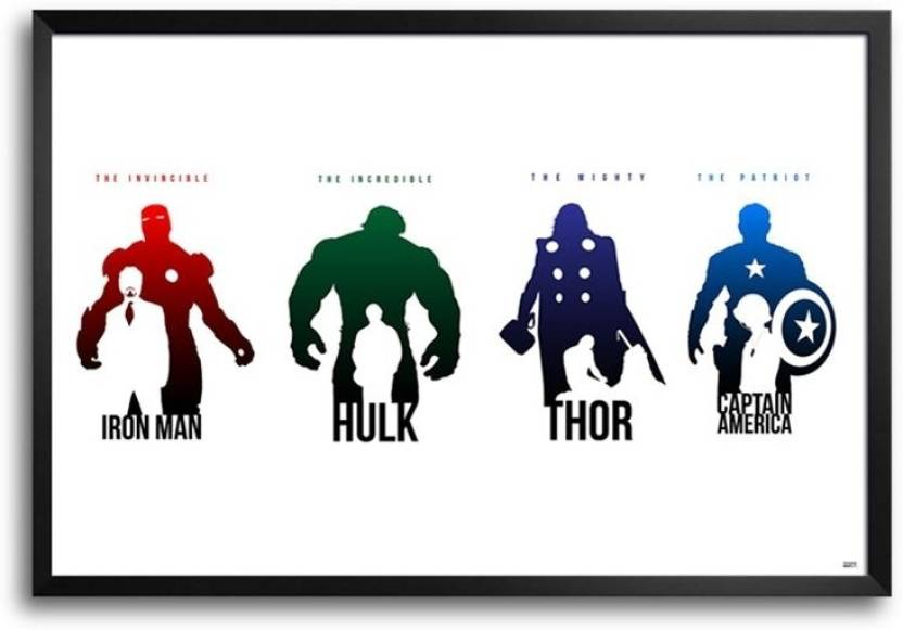 Avengers Comic FP00004175 Framed Photographic Paper - Animation ...