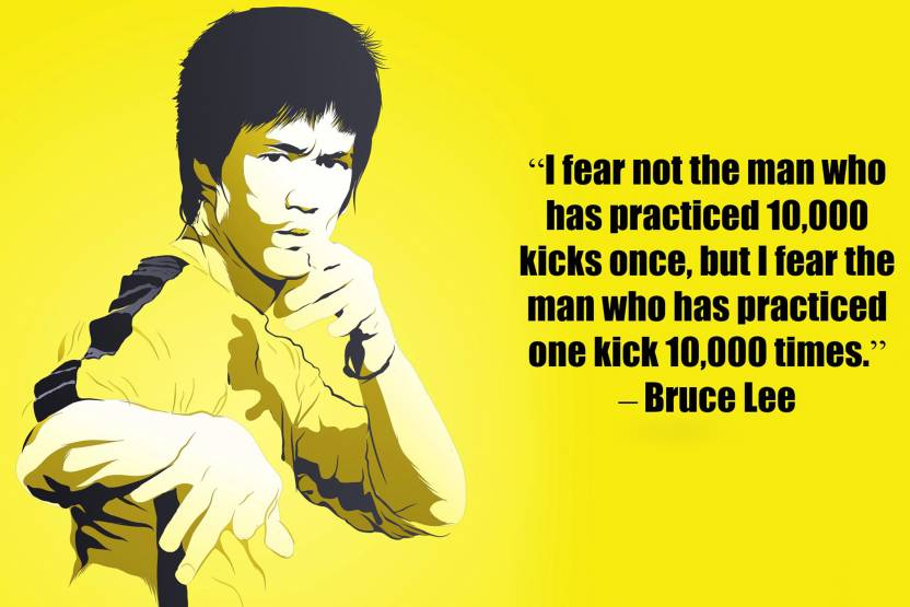 oshi bruce lee motivational quote 8 paper print