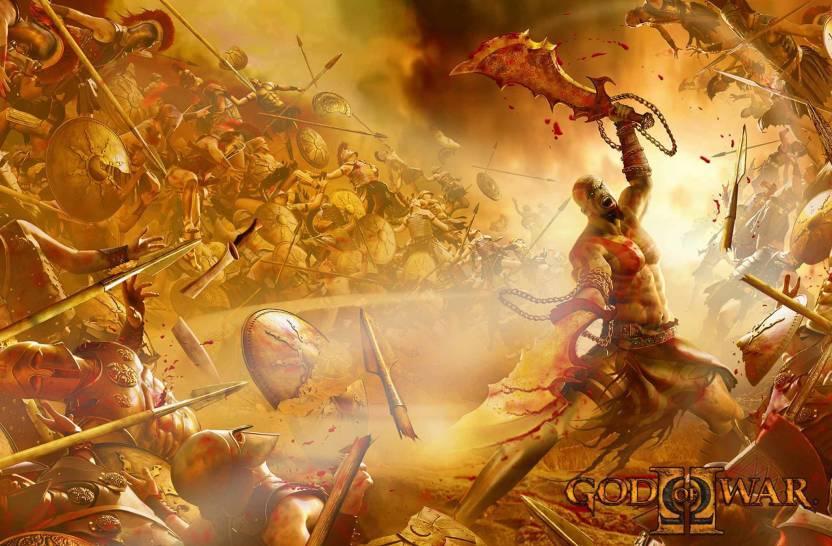 God Of War 2 A Da Vinci Canvas Art Gaming Posters In India Buy