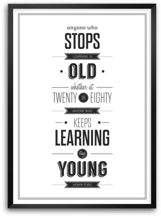 Educational Quotes | Education Inspirational Quotes Wall Decor Framed Poster Paper Print