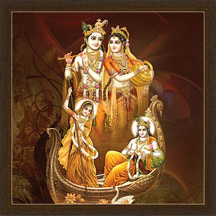 Shree Radha Krishna Love Wonder Frame By Returnfavors Canvas