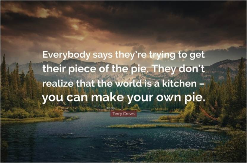 Make Your Own Pie Motivational Quote Poster Paper Print