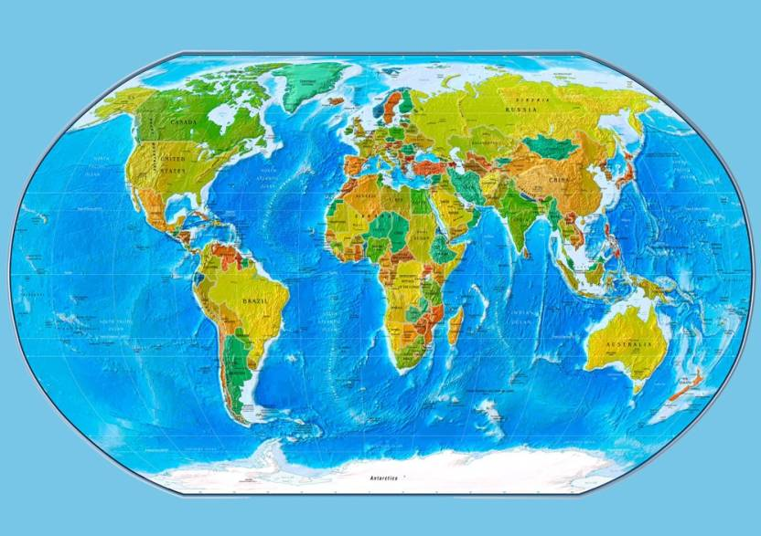 Paper print maps posters in india buy art film design movie paper print gumiabroncs Image collections