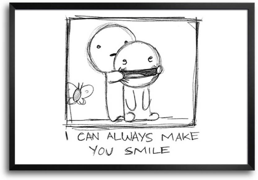 Bgfanstore Shubham Always Make You Smile Framed Paper Print