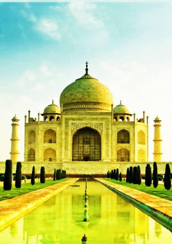 Taj Mahal Wonder A3 Non Tearable High Quality Printed Poster - Wall ...