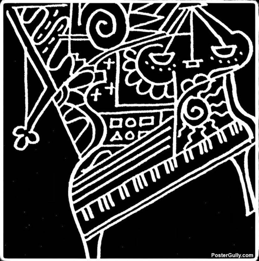 ananyadesigns wall poster piano artwork artist meghnanimous