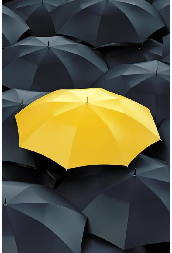 8153d6c47 ArtzFolio Unique Yellow Umbrella Premium Poster Paper Print (18.0 inch X  12.0 inch, Rolled)
