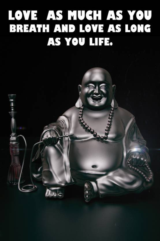 Amore Laughing Buddha Poster Photographic Paper Quotes
