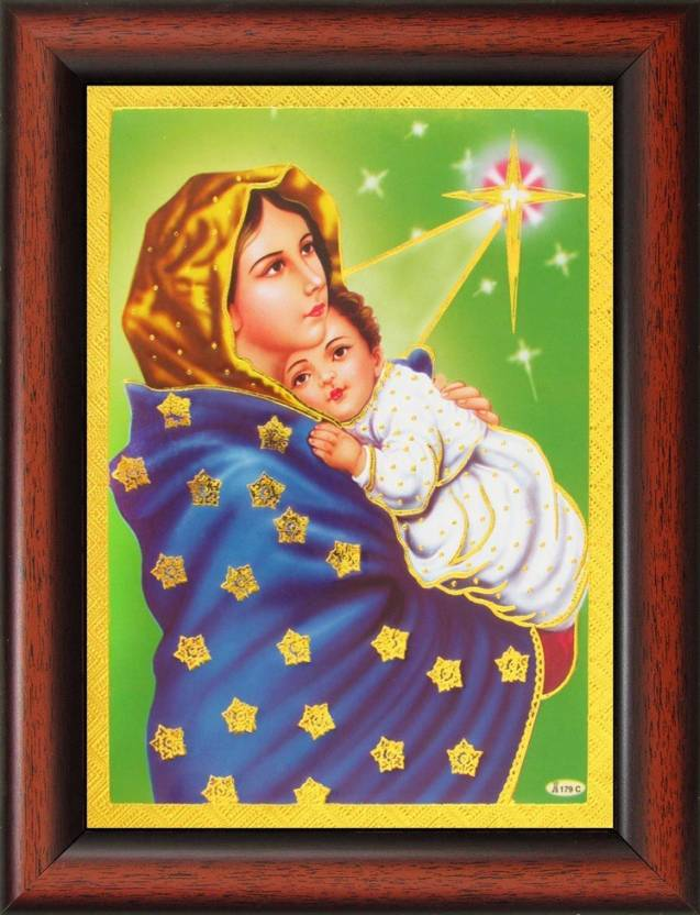 4125cb2013b6f The Virgin Mary and Jesus Poster Paper Print - Art & Paintings ...