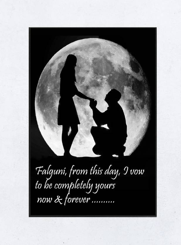 Falguni Love Romantic Valentine Proposal Quotes Framed