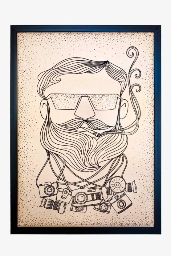 AnanyaDesigns Wall Poster Ullu's Doped Guy Paper Print - Humor