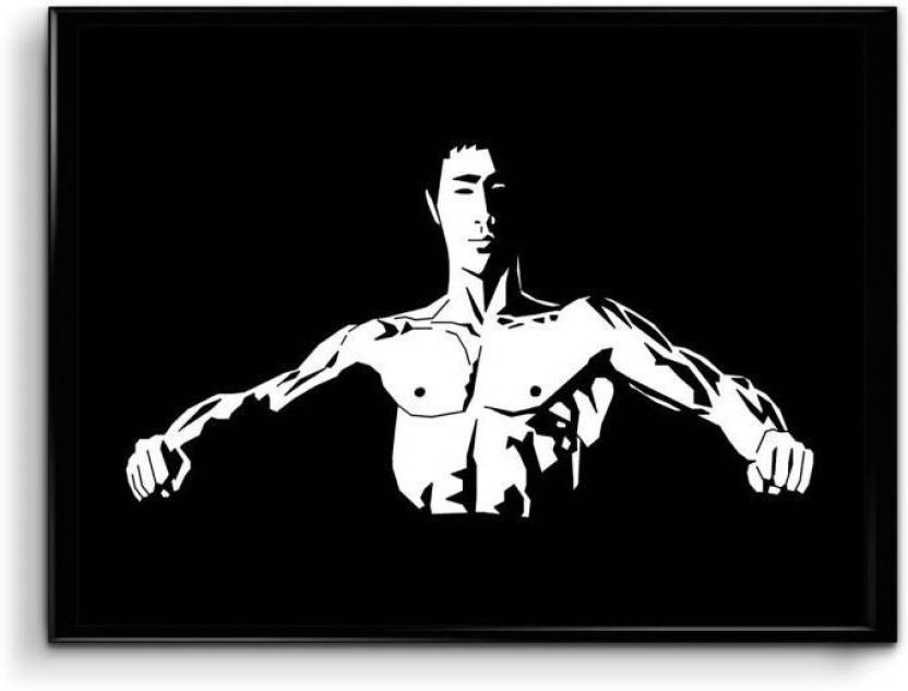 Sin City Bruce Lee Canvas Art Animation Cartoons