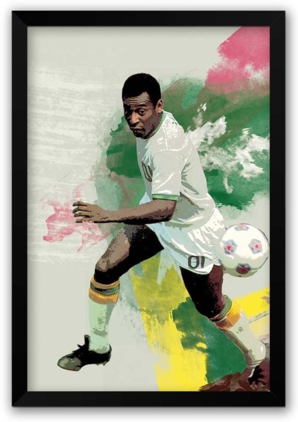 Pele Brazil Unusual Colour Door Poster