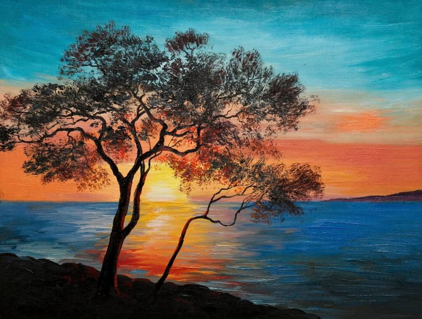 nature painting canvas art nature posters in india buy art film