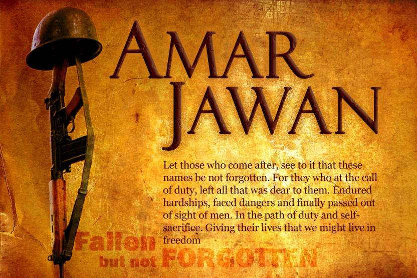 Amar jawan paper print quotes motivation posters in india buy amar jawan paper print altavistaventures Image collections